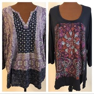 Lot of 2 Lucky Brand Tops Size 3X